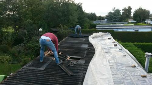 het dak is vervangen