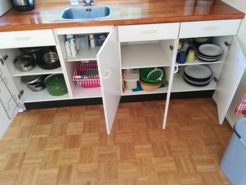 Beeld van de keukenspullen